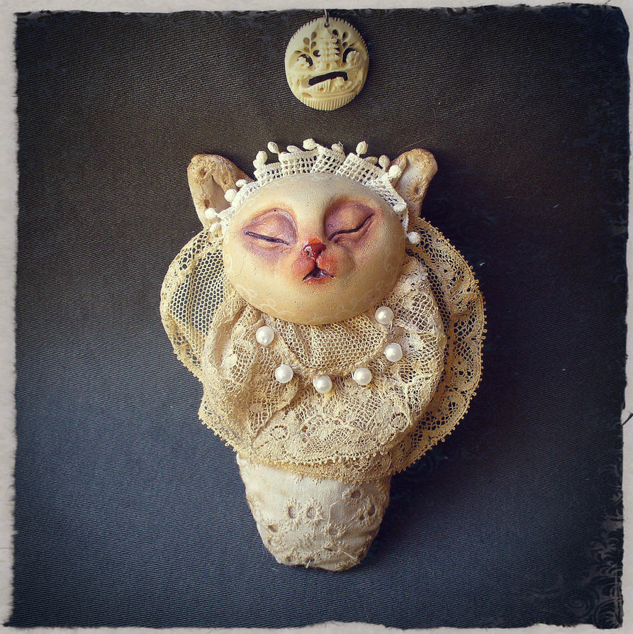 Newborn Gritter - Victorian Ooak baby monster by EnjoyPorno