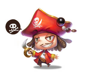 QX character design cute pirate by etcgood