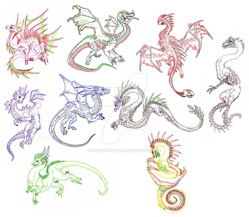 A Rainbow of Dragons by BraveBabysitter
