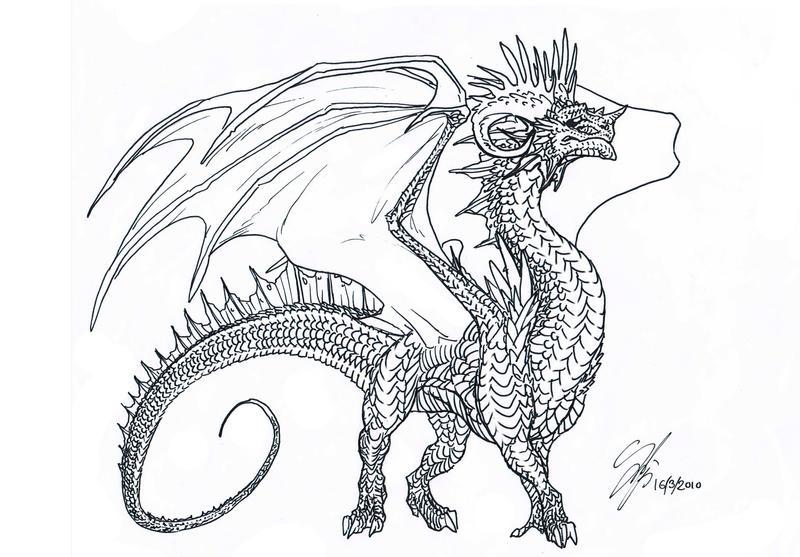 Old Dragon :sketch: by BraveBabysitter