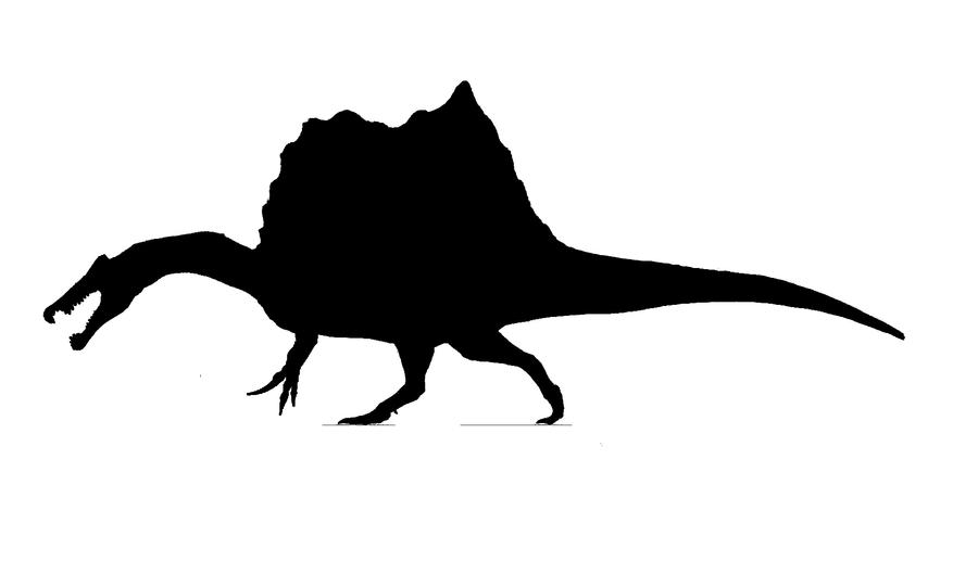 Spinosaurus Silhouette by thedinorocker on DeviantArt