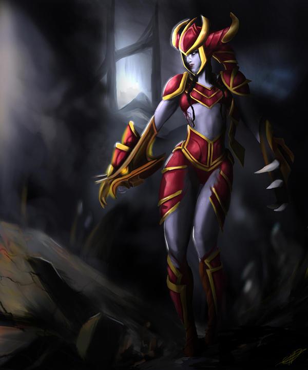 Shyvana - League of Legends by Chanuchi