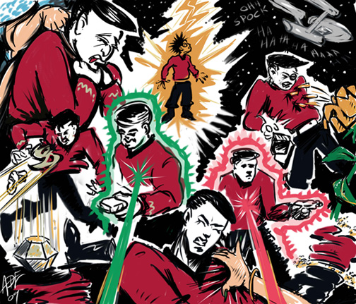 Red Shirts Down: TOS by ADE-doodles
