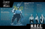 mocc2 character sheet:  L'epex BLUE by ADE-doodles