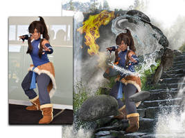legend of Korra cosplay photo edit