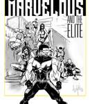 Marvelous and the Elite  black n white commission