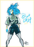 Blue Lady OC by ADE-doodles