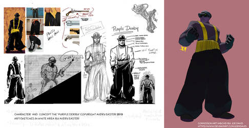 Purple Derby commission art By Joe M Davis by ADE-doodles