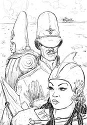 Wari-Her Mage-or and Arzack inks