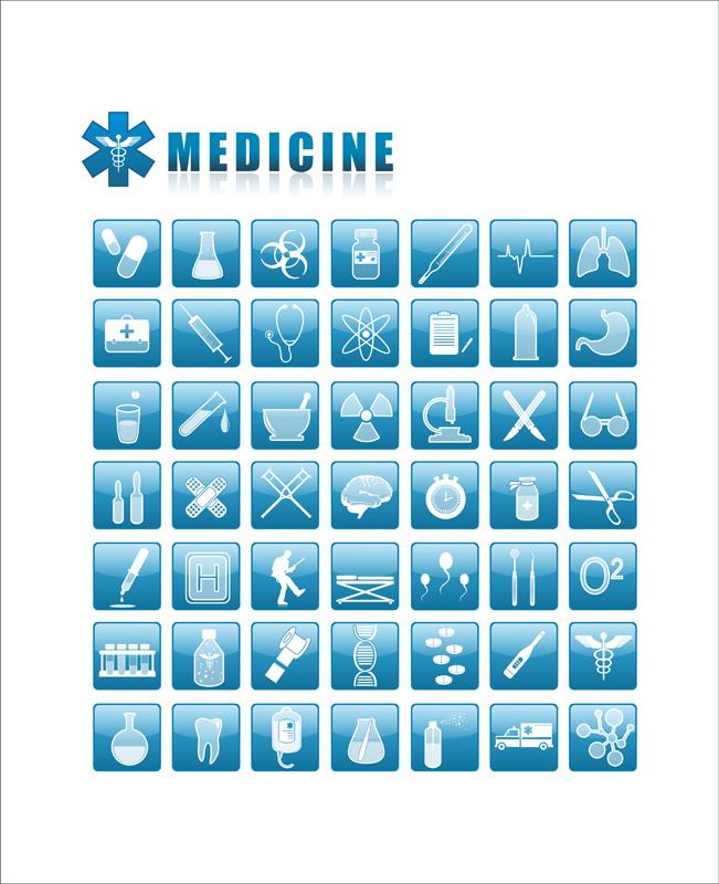 medicine icons by Nikonovic