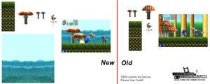 Mushroom Hill Stage Sprites[Sonic Advanced]