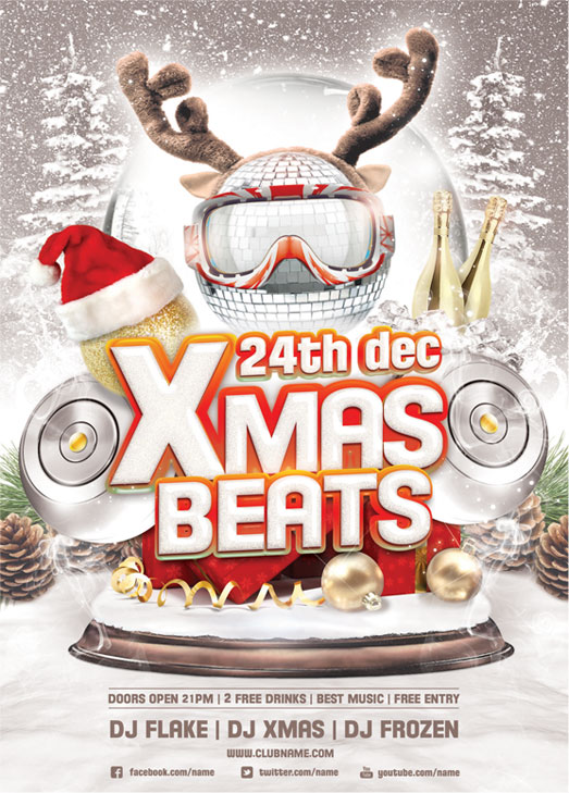 Xmas Beats Flyer Template By Brielldesign On Deviantart