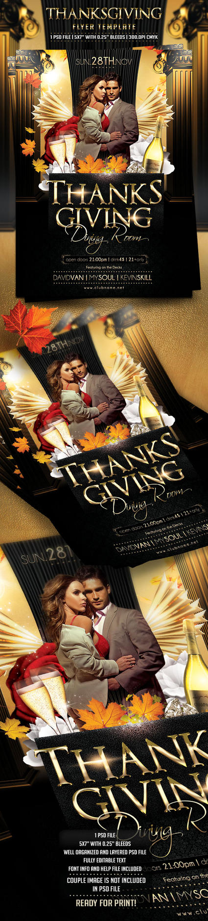 Thanksgiving Day Flyer Template by BriellDesign