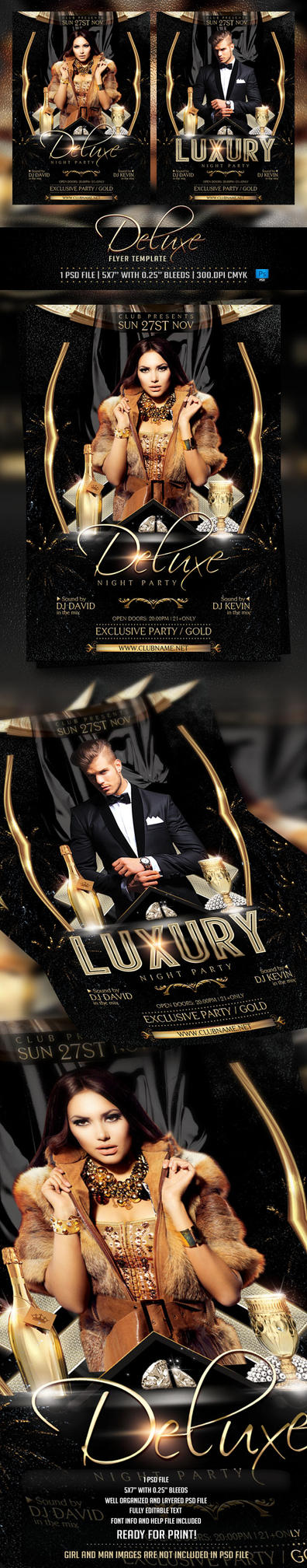 Deluxe and Luxury Flyer Template by BriellDesign