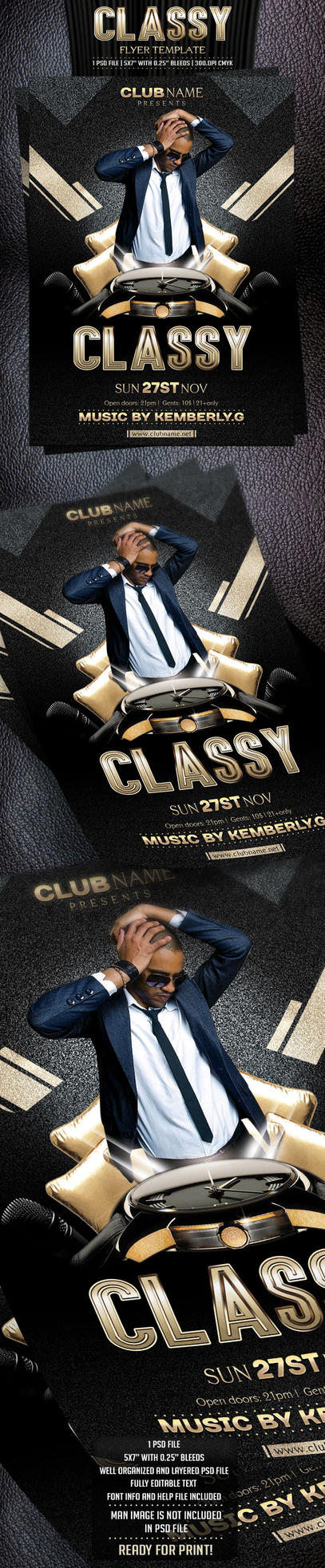 Classy Flyer Template by BriellDesign