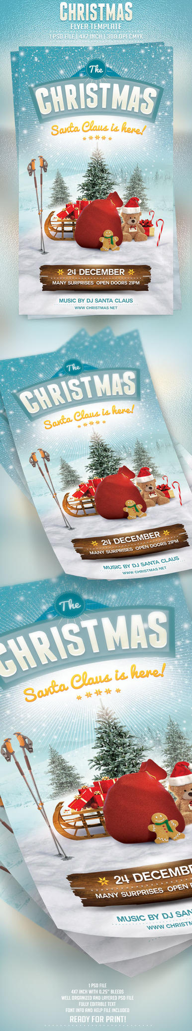 Christmas Flyer Template by BriellDesign