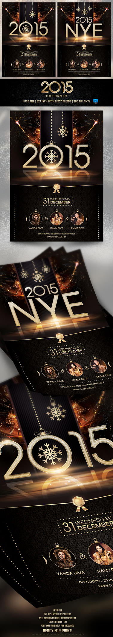 2015 NYE Flyer Template by BriellDesign