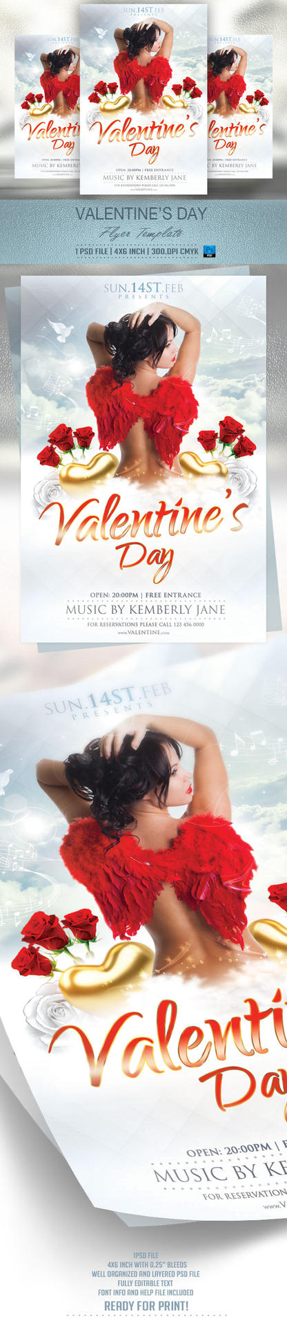 Valentines Day Flyer Template by BriellDesign