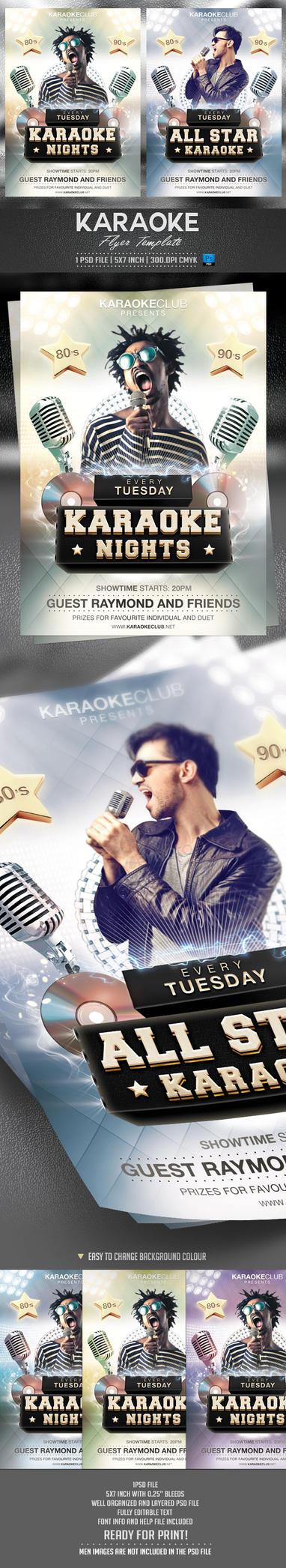 Karaoke Flyer Template by BriellDesign