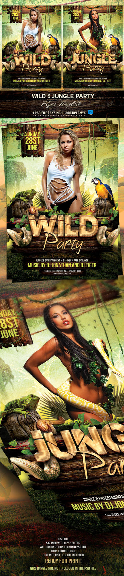 Jungle and Wild Flyer Template by BriellDesign