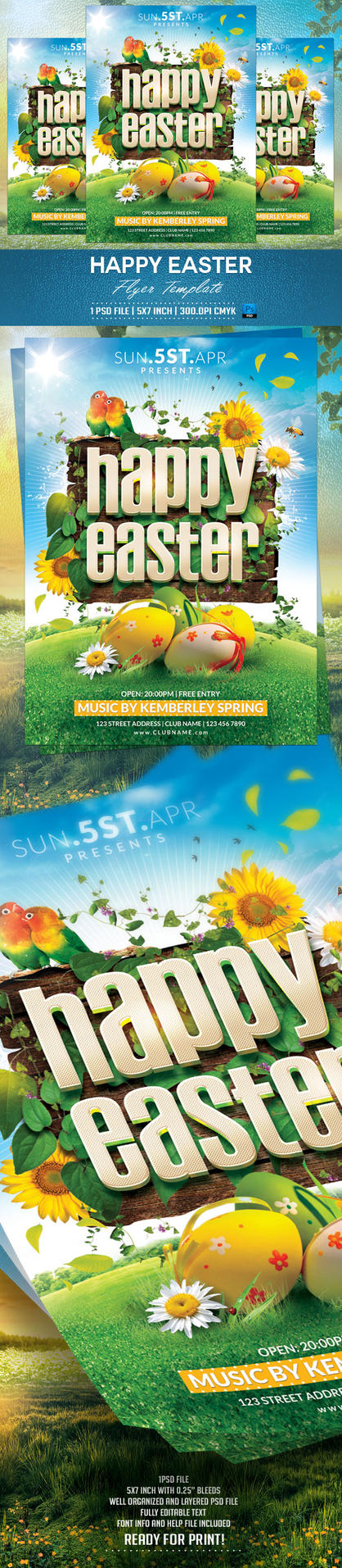 Happy Easter Flyer Template by BriellDesign