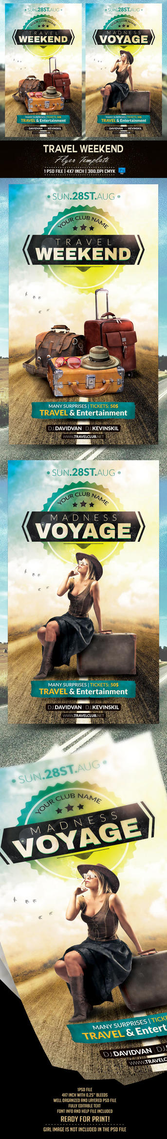Travel Flyer Template by BriellDesign