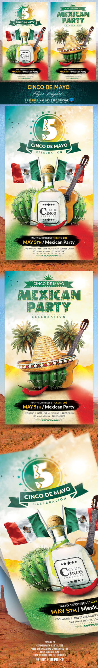 Cinco de Mayo Flyer Template by BriellDesign
