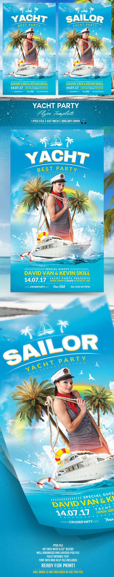 Yacht Party Flyer Template by BriellDesign