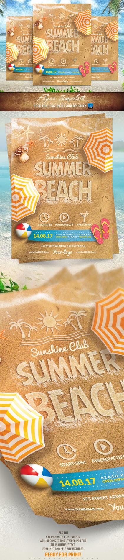 Summer Beach Flyer Template by BriellDesign