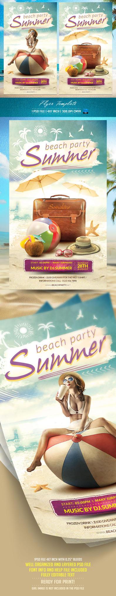 Summer Flyer Template by BriellDesign