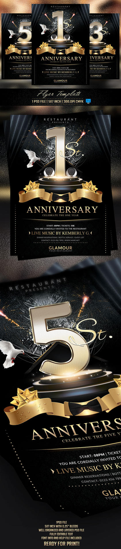 Anniversary Flyer Template by BriellDesign