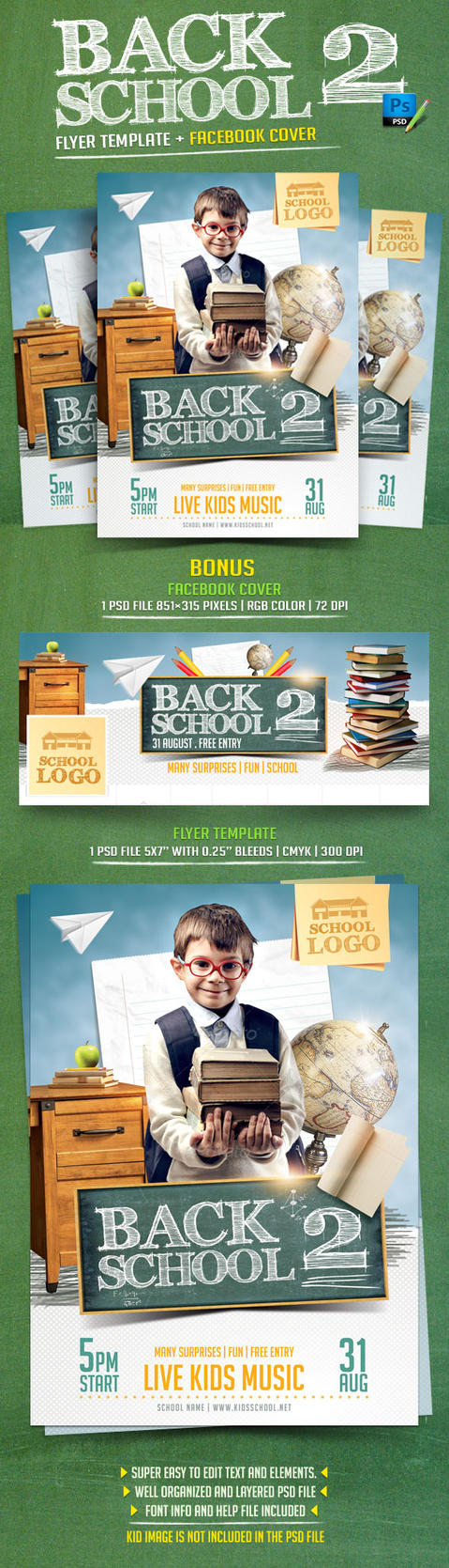 Back to School Flyer Template by BriellDesign