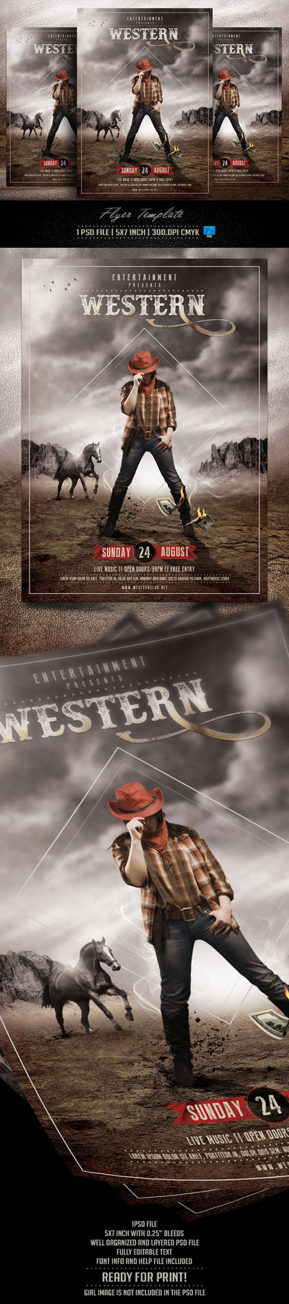 Western Flyer Template by BriellDesign