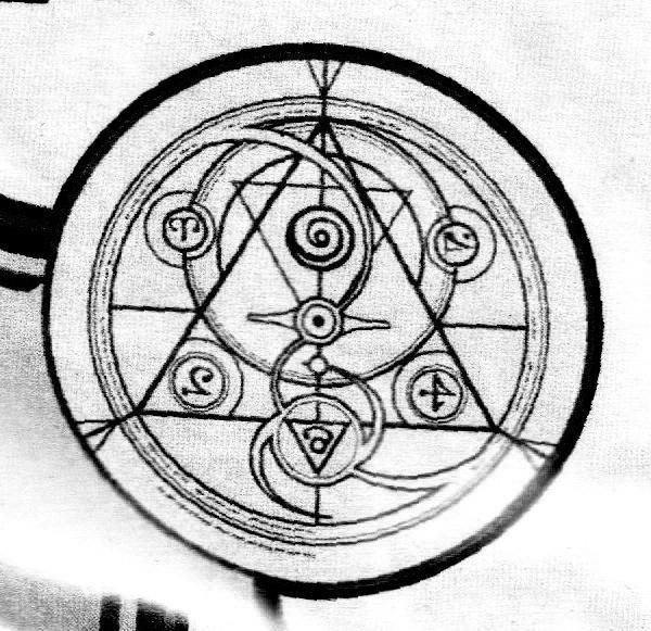 Transmutation Circle Bw By Adamzivojnovich On Deviantart