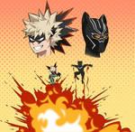 Black Panther and Bakugo