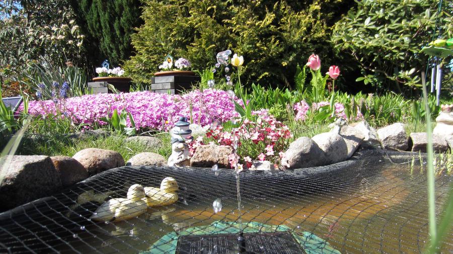 Garden Pond Fountain By Preshadnb On Deviantart