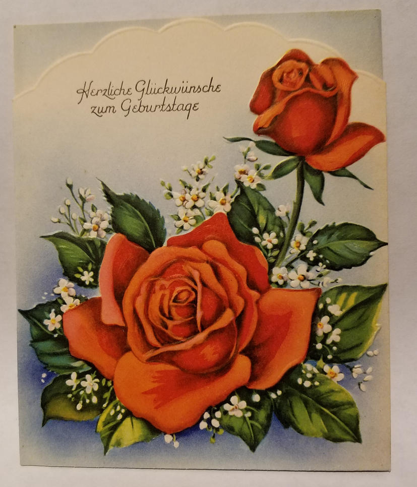 vintage german birthday card 1kibbecat on deviantart
