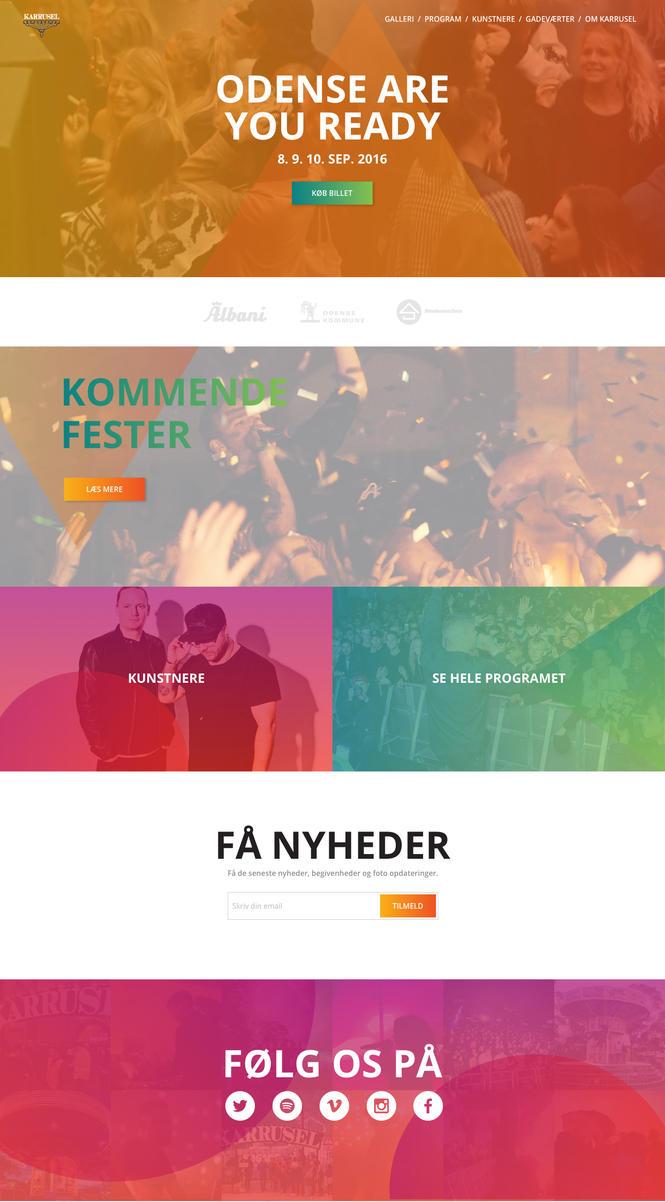 Festival web page [Redesign] by lynge-nielsen