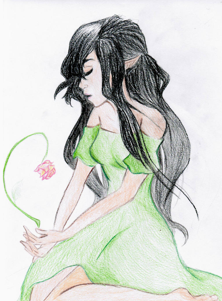 Arya by Melody-in-the-Air Eragon And Arya Drawings