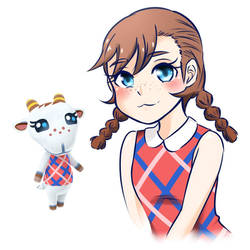 Chevre Humanized - Animal Crossing New Horizons