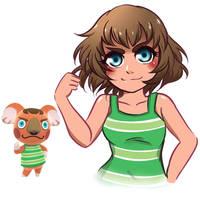 Canberra Humanized - Animal Crossing New Horizons
