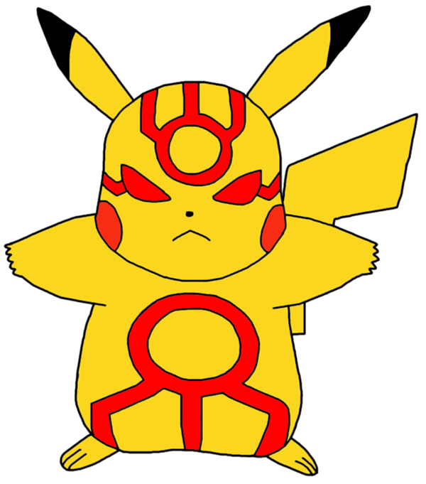 Pikachu Controlled By The Blue Orb!!! by GEORDINHO