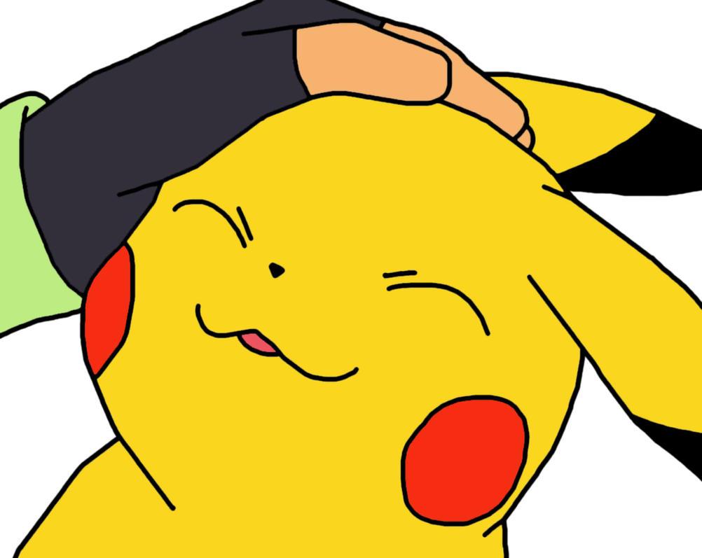 Ash Pets Pikachu by GEORDINHO