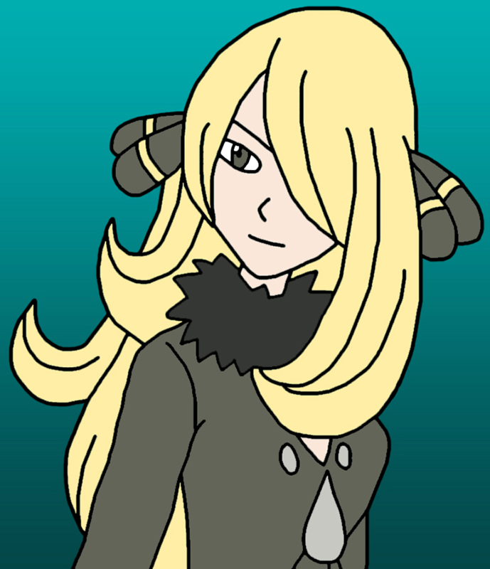 Sinnoh Champion Cynthia by GEORDINHO