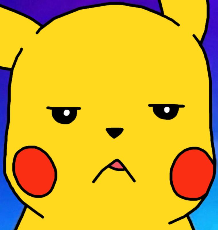 Pikachu Is Not Amused by GEORDINHO