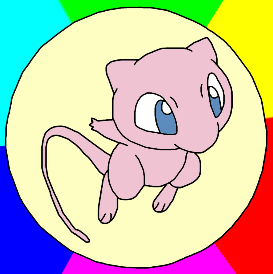 Mythical Pokemon mew by GEORDINHO