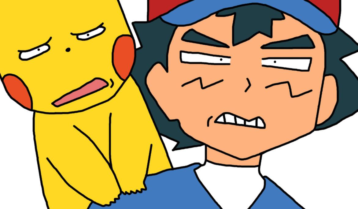 SM Ash And Pikachu Funny 2 by GEORDINHO