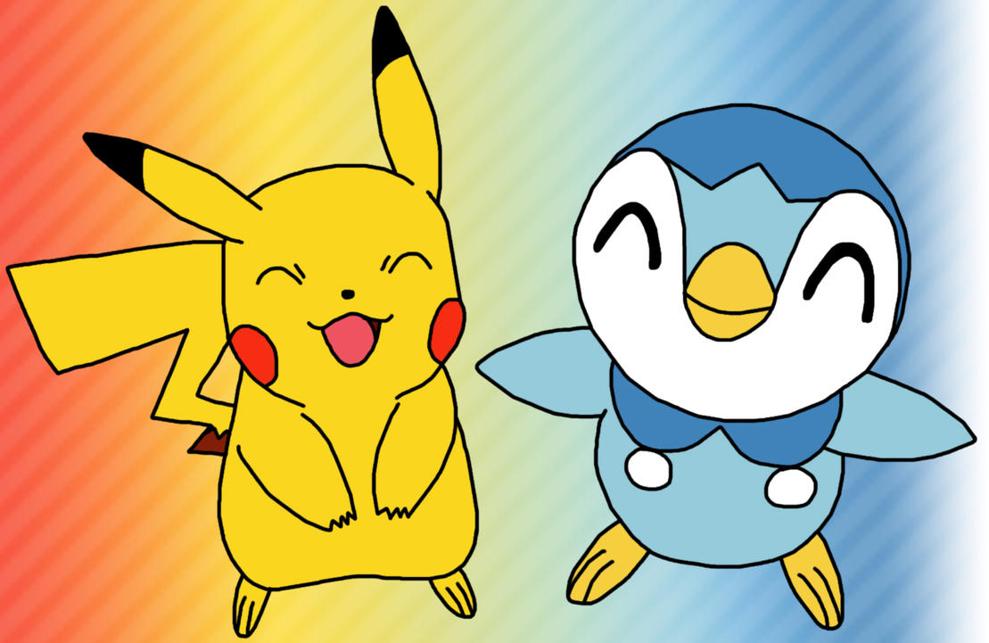 Pikachu And Piplup by GEORDINHO