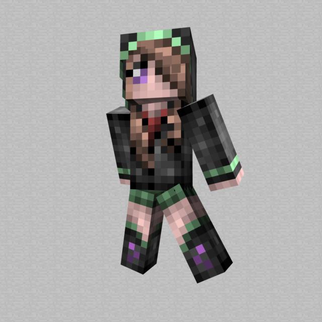 cute girl in a hoodie minecraft skin by hunterk77 on deviantart