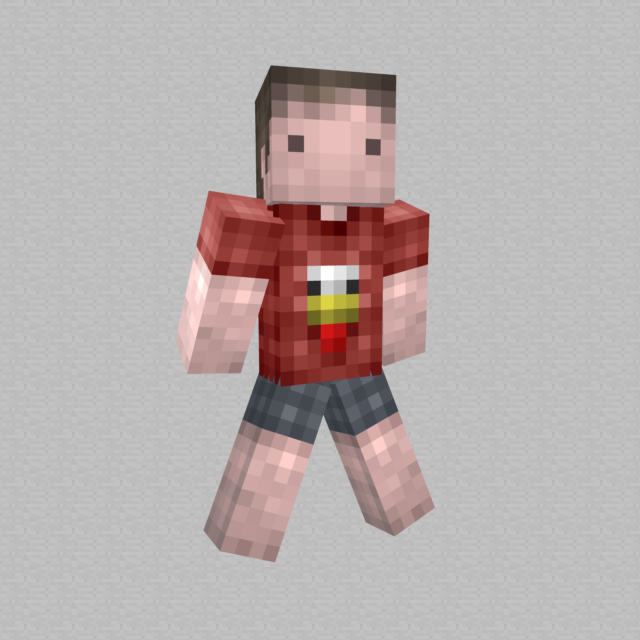a boy in his chicken t shirt minecraft skin by